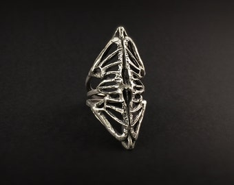 Thoracic Cage Ring - Skeletal Biomorphic Design - made by Jamie Spinello