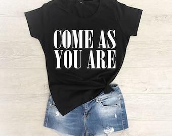 Nirvana Shirt, Nirvana T Shirt, Nirvana Shirt Women, Come As You Are Shirt, Come As You Are Nirvana, 90s Grunge, Grunge Shirt, Kurt Cobain