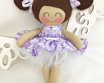 Fabric Doll, Cloth Baby Doll- Handmade Doll, Girl Gift