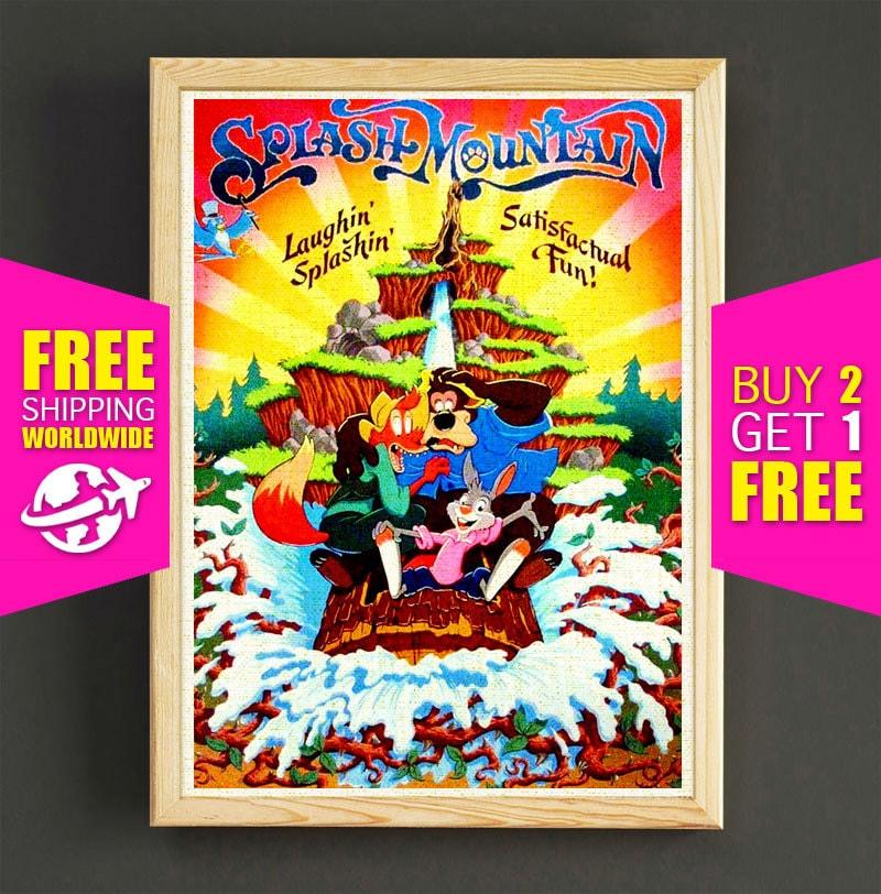 ?zoom  sc 1 st  Etsy & Disney Poster Disneyland Vintage Splash Mountain Disneyland
