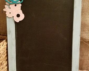 Floral Chalkboard 12x18