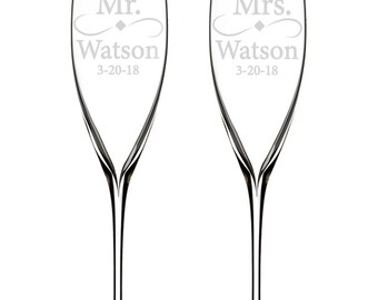 Waterford Customized Elegance Classic Champagne Flutes, Set of 2