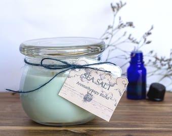 Sea Salt Handmade Aromatherapy Soy Candle