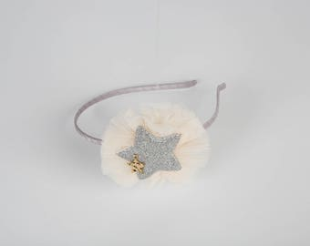 Glitter Star Ruffle Girl Toddler Baby Headband