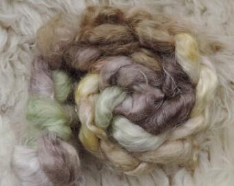 Kid Mohair silk,Crazy Bookworm, top, handpainted fiber for spinning, 100g