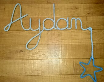 Initials to personalize, knitting baby/child room decoration
