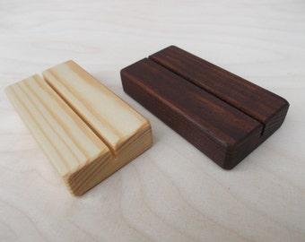 30 Wood place card holders, Place card holders, Table number holders, Menu holder, Wooden holder, Wedding decor, Cafe, Wedding, Rustic