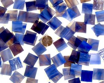 Cobalt Rose Mosaic Tile