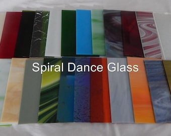 """20 Sheets Stained Glass (4"""" x 6"""") SPECTRUM Opals Cathderals Waterglass  & More"""