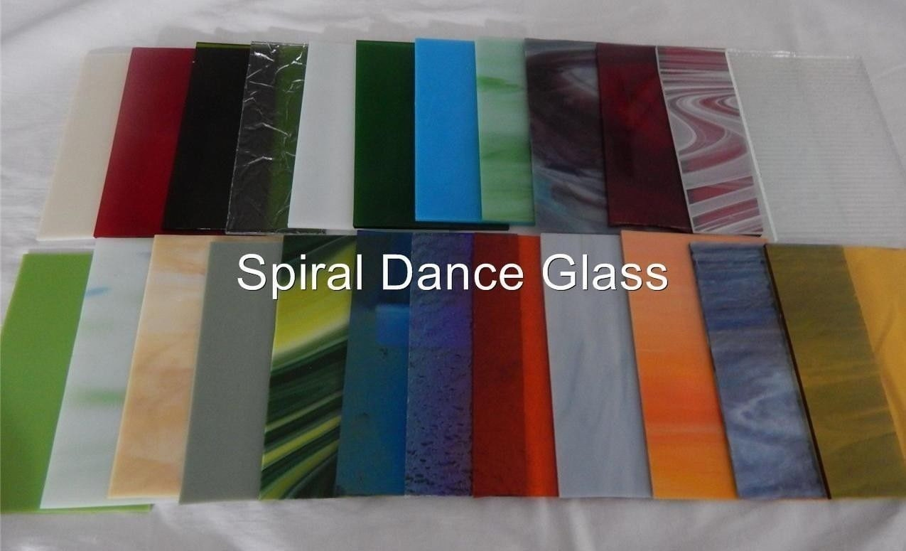 20 sheets spectrum stained glass 3mm 4 x 6 opals - HD 1275×775