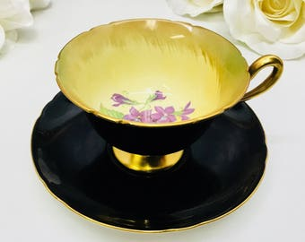 Shelley #13856 Gainsborough teacup and saucer with violets circa 1956.