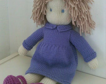 Toy Doll Knitting Pattern pdf- Instant Download