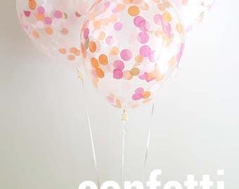 Confetti Balloons - Flamingo,  3 Different sizes, 30cm, 43cm or 90cm Jumbo