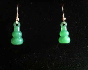 Dangle Green Earrings  #289