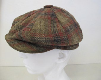 Peaky Blinders Wool Plaid Cap Tweed Newsboy Cap Wool Plaid Cap Golf Cap