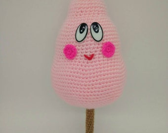 Cotton candy amigurumi handmade crochet doll kawaii - READY TO SHIP -