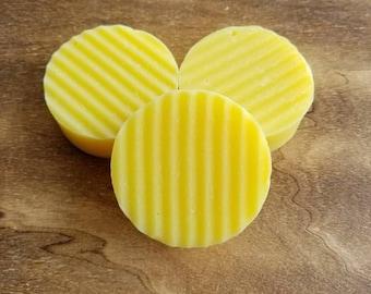 Lemon Soap, Sweet Lemon, Lemon Soap Bar, Kitchen Soap, Round Soap, Lemon Soap Favors, Bath Soap, Handmade Soap, Artisan Soap, Citrus Soap
