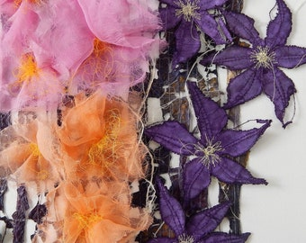 Clematis and Roses: card