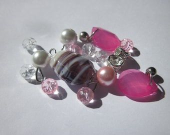16 glass beads and acrylic 6-16 mm (Y26)
