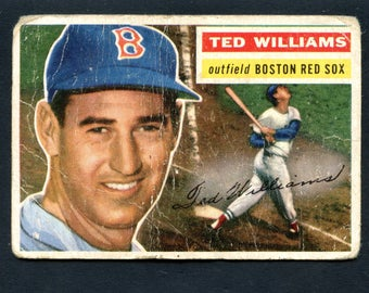 1956 Topps Baseball Ted Williams #5 Boston Red Sox Hall of Famer See Pic