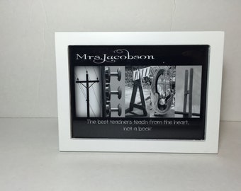 Teacher- Personalized teacher frame,Teacher Appreciation Week, Photography Art Print with Inspirational Quote,Teacher Gift, Christmas Gift