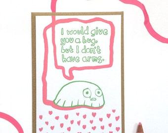 Slug hug greeting's card