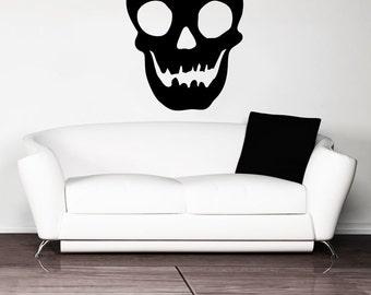 Vinyl Wall Art Decal Sticker Happy Skull OSMB1202m