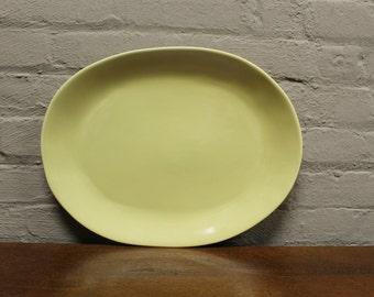 Organic Line Portuguese Dinnerware / Serveware in Provence Crème Ceramic Large Oval Platter & Organic Line Portuguese Dinnerware / Serveware in Herbal