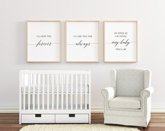 """Nursery Art Prints / """"I'll Love You Forever"""" /  by South + Willow Design"""