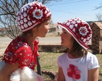 Crochet PATTERN Pack - Crochet Hat Pattern Sun Hat Crochet Pattern Summer Hat Beanie Flower Clip  Floppy Hat  Lace Hat Baby Child Ladies