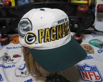 90s GREEN BAY PACKERS Sports Specialties Snapback Big Logo Spellout hat - vintage nfl