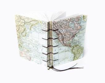 World Map Travel Journal, Notebook, Sketchbook