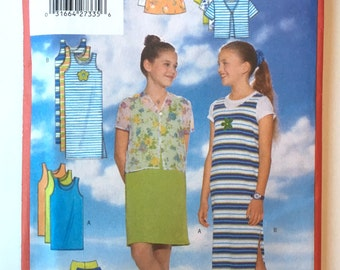 Butterick Girls Sew Easy Sewing Pattern 5502, Girls Sizes 12-14-16, UNCUT - Girls Top, Dress, Skirt and Pants - 1998