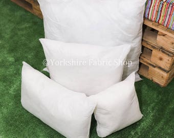 """Quality New Cushion Filling Empty Inner Inserts Pads 14"""" 20"""" 27"""" Hollow Fibre Inserts Square & Rectangle Shapes - Brand New British Filled"""