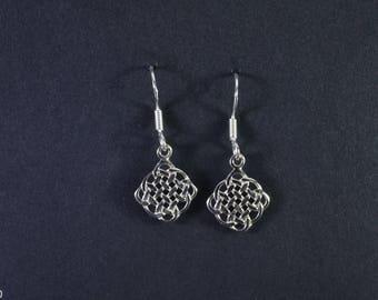 Celtic Design Earrings with Celtic Knot