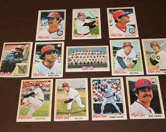 1978 Topps Boston Red Sox 12 Cards