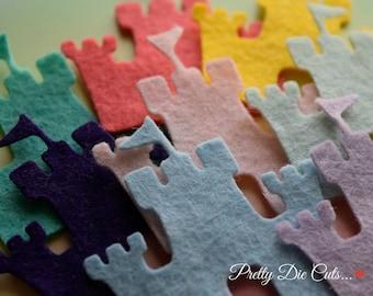 Felt Castles, Die Cut Craft Embellishments