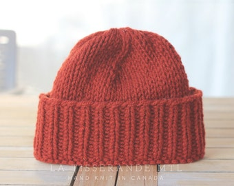 Knit hat, wool beanie, knitted hat, knit hats, wool hat // Made in Canada - 100% sheep's wool