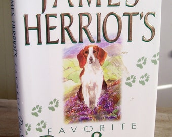 Vintage Dog Stories, James Herriot, Favorite Dog Stories, 1996 First US Edition Hardcover Book, Vintage Dog Book, Illustrated Book