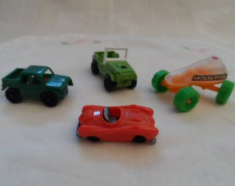 set of 4 small cars miniature collection, kids plastic
