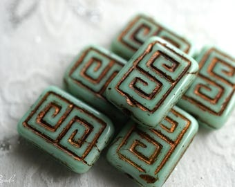 Greek Key, Czech Beads, Beads, N2250