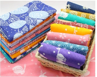 """Japanese Traditional Tenugui cloth 100 % cotton towel 13"""" wide and 35"""" long Ver.B"""
