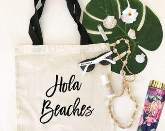 Hola Beaches Tote Hola Tote Bag (EB3216CT)