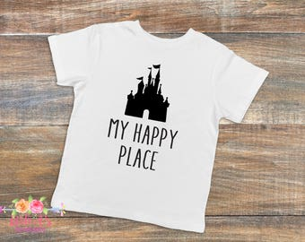 My happy place, Happiest place on Earth, Disney lover, Gift for Disney lover, Disney vacation, Cinderella's Castle, Magic Kingdom, Vacation