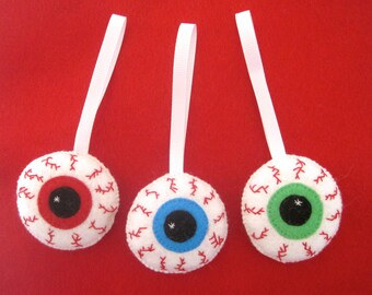 Halloween Ornaments - Halloween Hanging Ornament - Zombie Ornaments - Bloodshot Eye - Halloween Decor