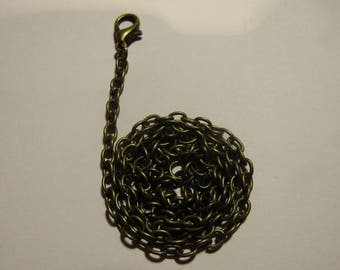 bronze chain, chain 45cm, with carabiner, creation jewels, for necklace
