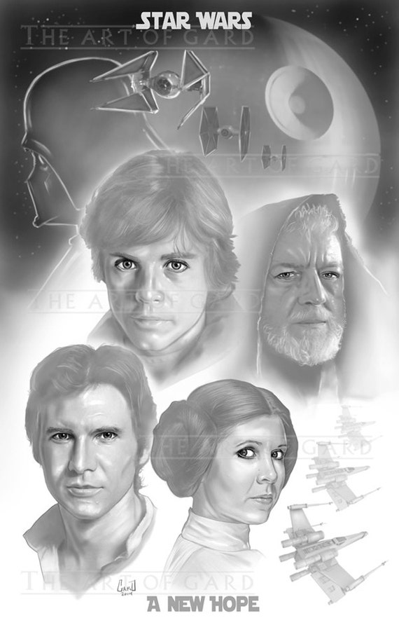 Star Wars (A New Hope Collage)