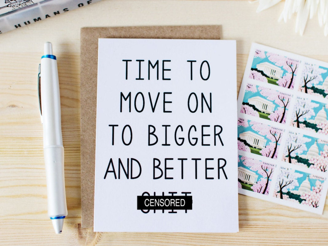 Funny break up card new job card new home card time to zoom kristyandbryce Image collections