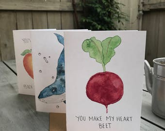 You Make My Heart Beet Valentine's Day Card