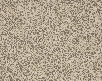 Stella Pewter cotton fabric by the yard Magnolia Home Fashions